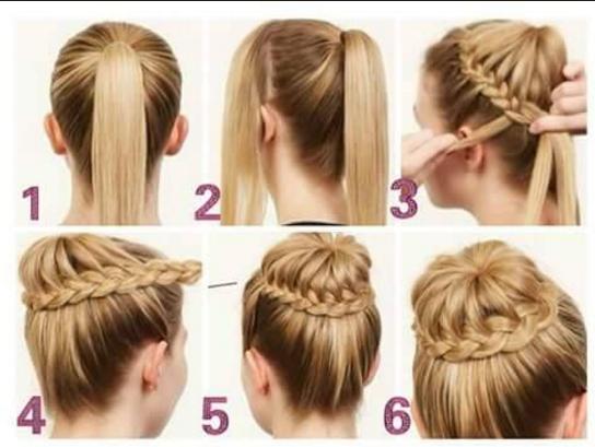 Peinados faciles para cabello largo para fiesta