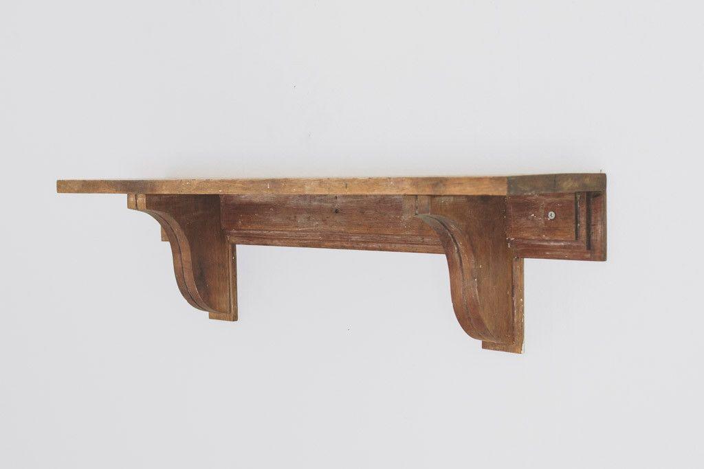 vintage wood wall mount shelf