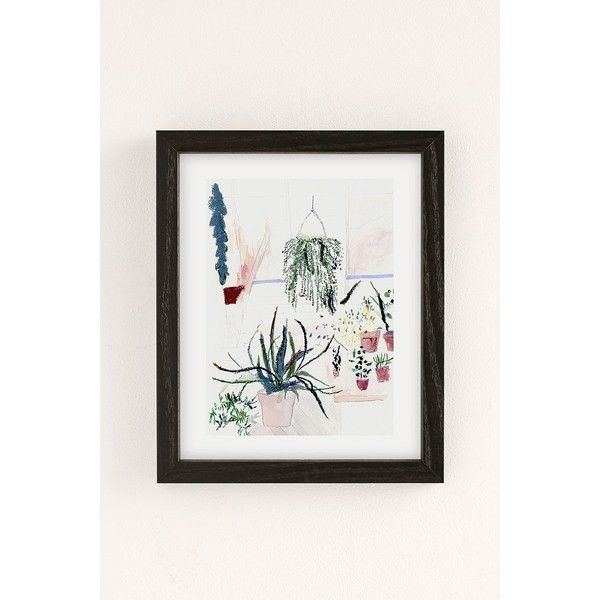 Alicia Galer Potted Garden Art Print ($89) ❤ liked on Polyvore featuring home, home decor, wall art, black wood frame, urban outfitters wall art, black wall art, inspirational wall art, motivational wall art and garden home decor
