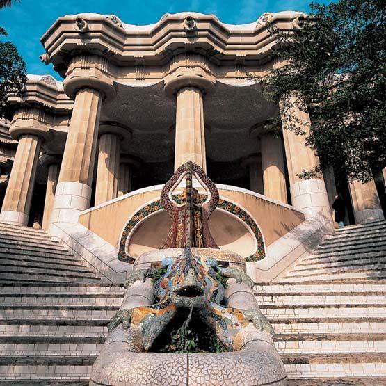 Güell Park designed by Gaudi