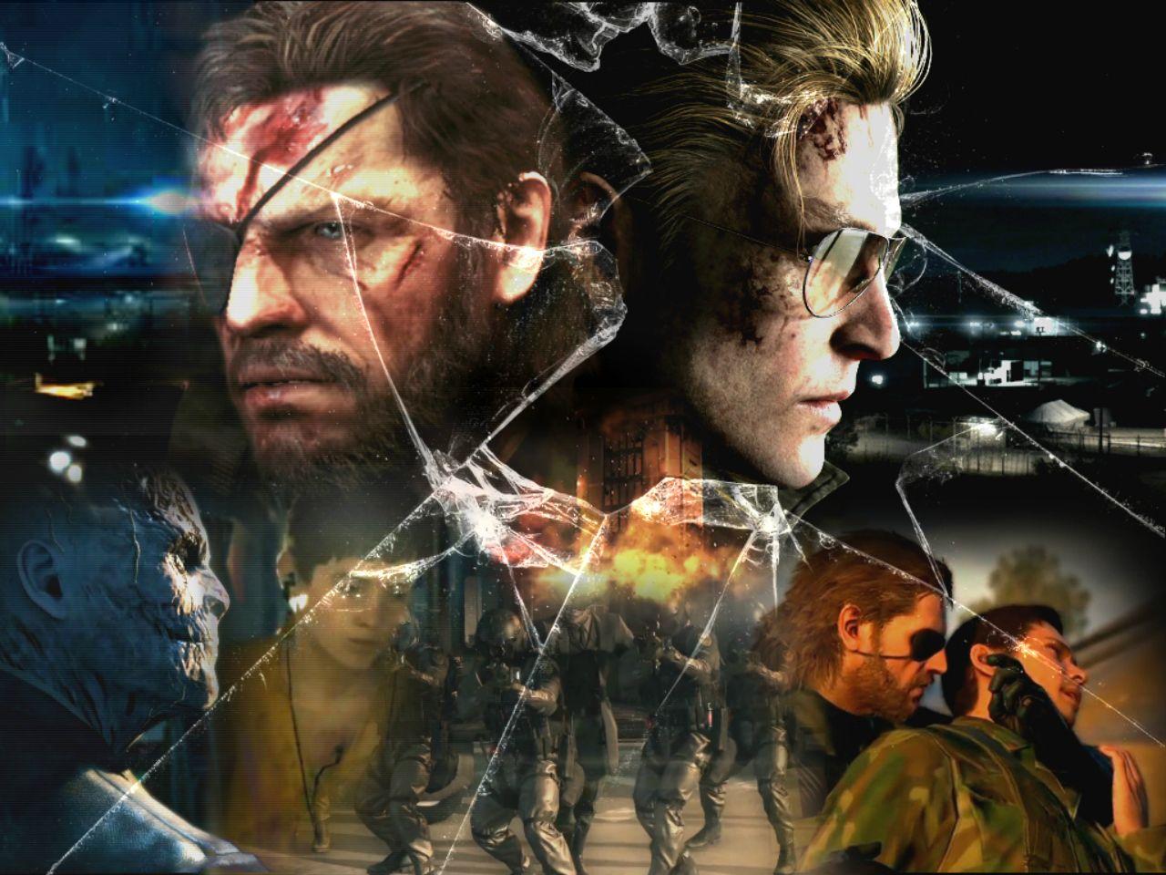 Video Game - Metal Gear Solid V: The Phantom Pain Metal Gear Solid Big Boss (MGS) Fire Solid Snake Kaz Explosion Chico Broken Glass Wallpaper