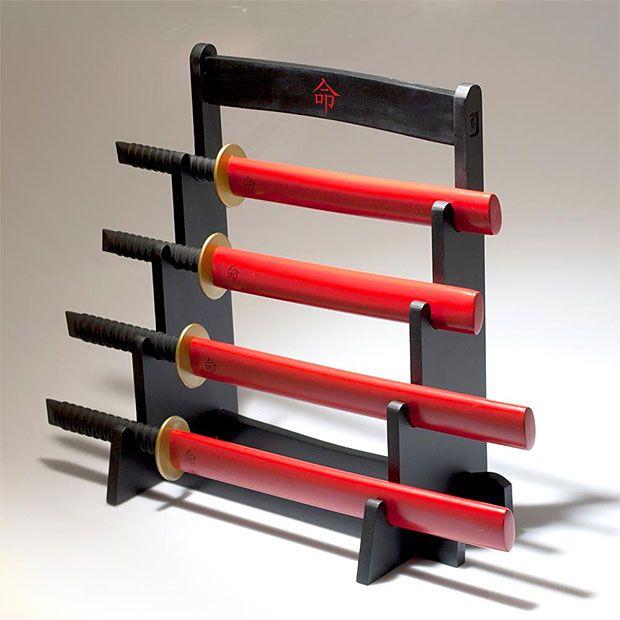 samurai kitchen knife set at werdrad   stuff i want