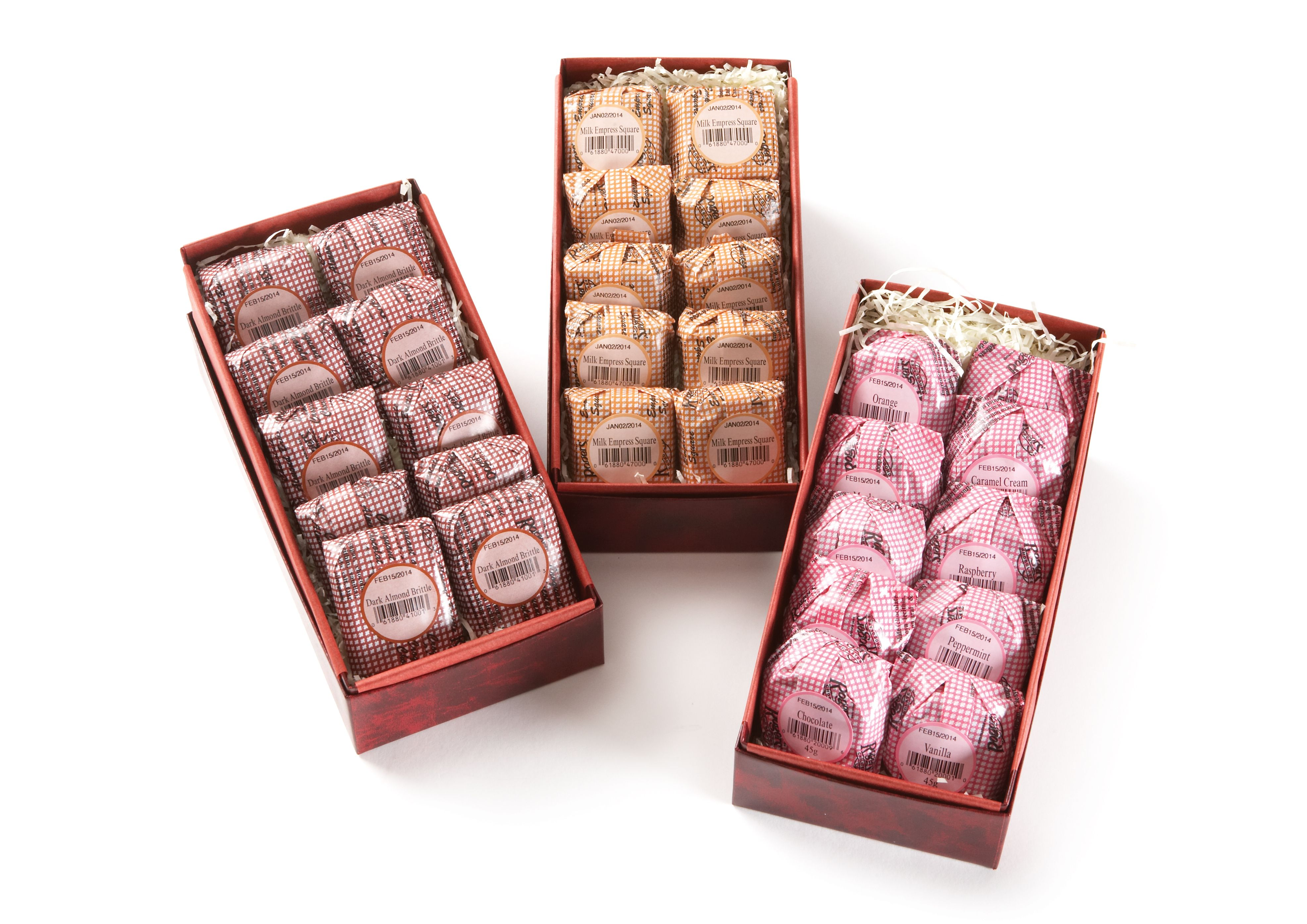 Victoria Creams, Almond Brittle & Empress Squares