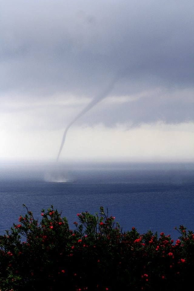 Water Spout Off The Coast Of Saba, Dutch Caribbean