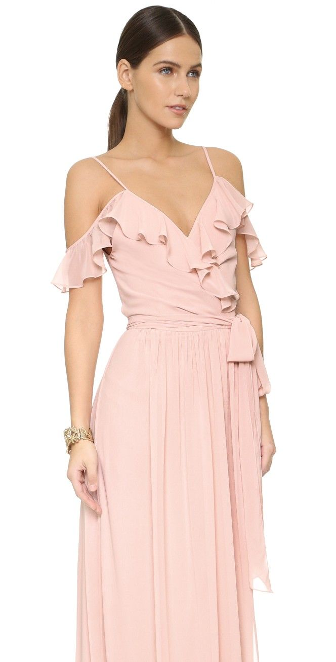 Portia Off Shoulder Wrap Dress