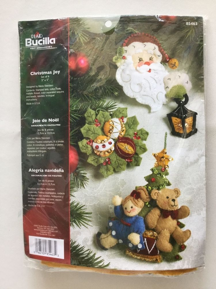 Details about Bucilla Felt Ornament Kit, Sparkle Snowflake