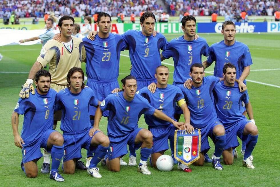 Resultado de imagem para italia 2006 world cup squad