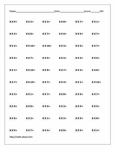 Free Multiplication Worksheets To Practice With Factors Up To 12 Multiplication Worksheets Times Tables Worksheets Free Multiplication Worksheets