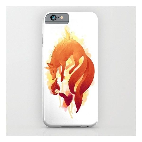 Society6 Fire Fox iPhone & iPod Case ($35) ❤ liked on Polyvore featuring accessories, tech accessories, phone cases and iphone & ipod cases
