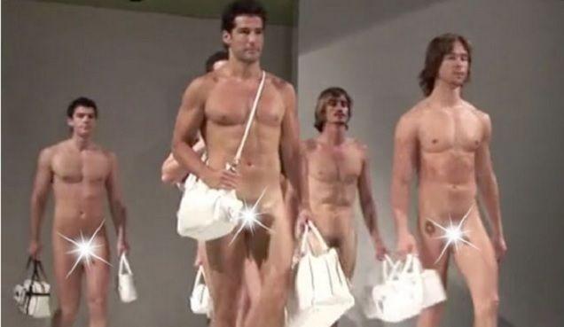 Mens nude fashion show 41