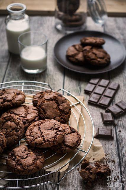 Schokoladige Chocolate-Chip-Cookies / Double Chocolate-Chip-Cookies | Ina Is(s)t