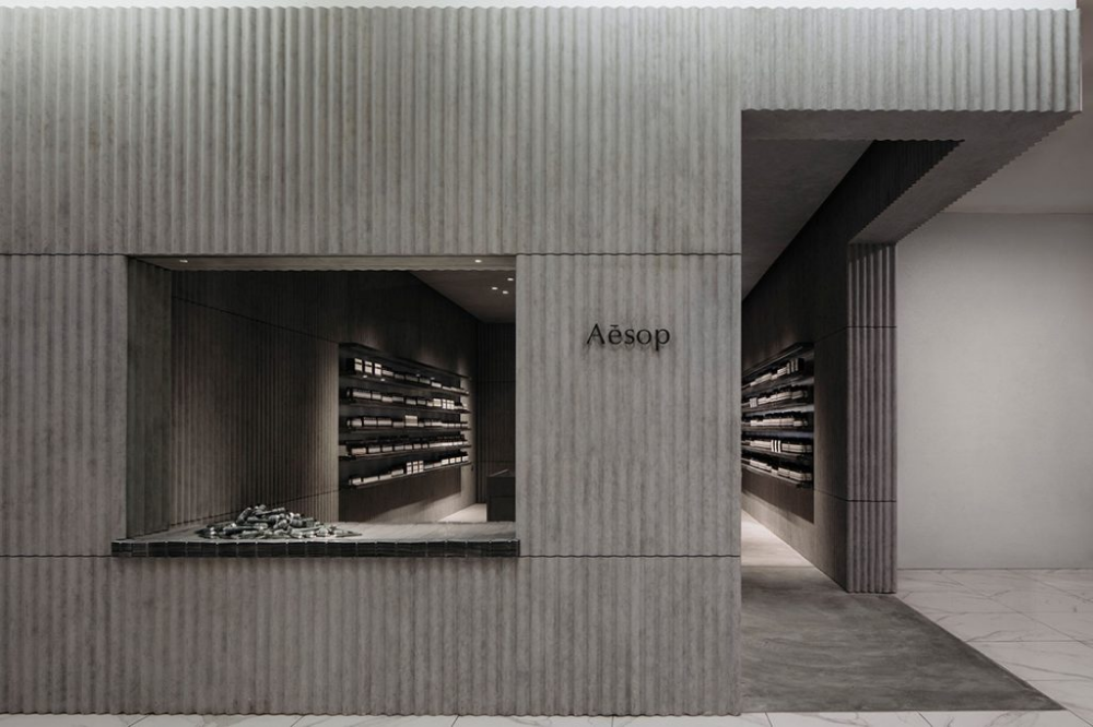 Aesop S New Store At 1utama Malaysia Indesignlive Corrugated Metal Roofing Sheets Corrugated Metal Roof Sheet Metal Roofing