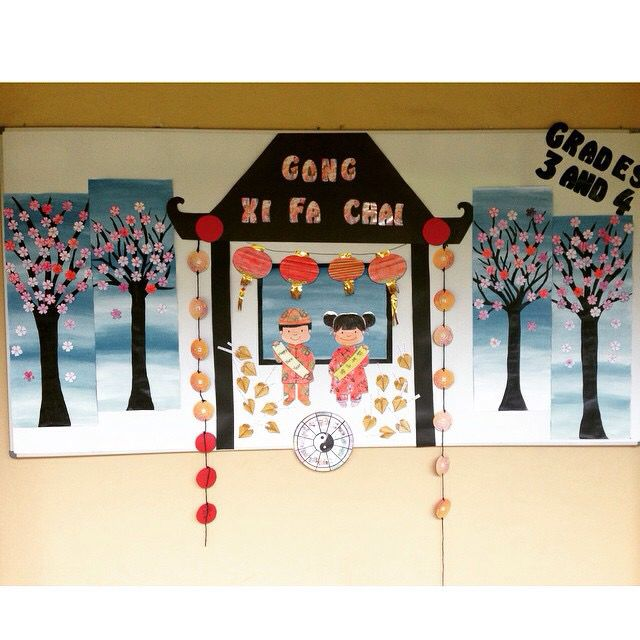 Chinese New Year- Bulletin Board | Chinese arts and crafts ...