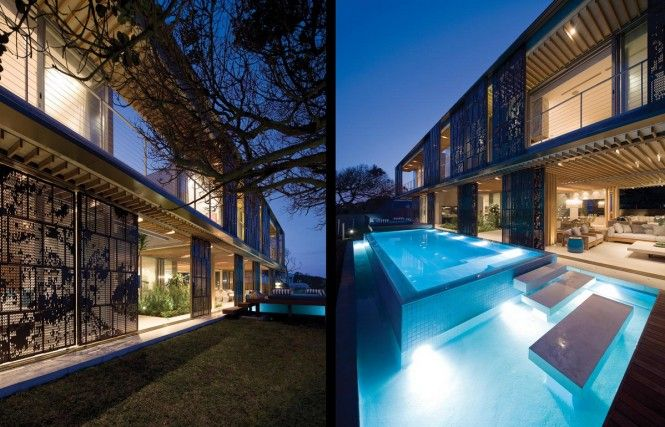 Contemporary cocoon house by stephan antoni olmesdahl truen architects durban south africa