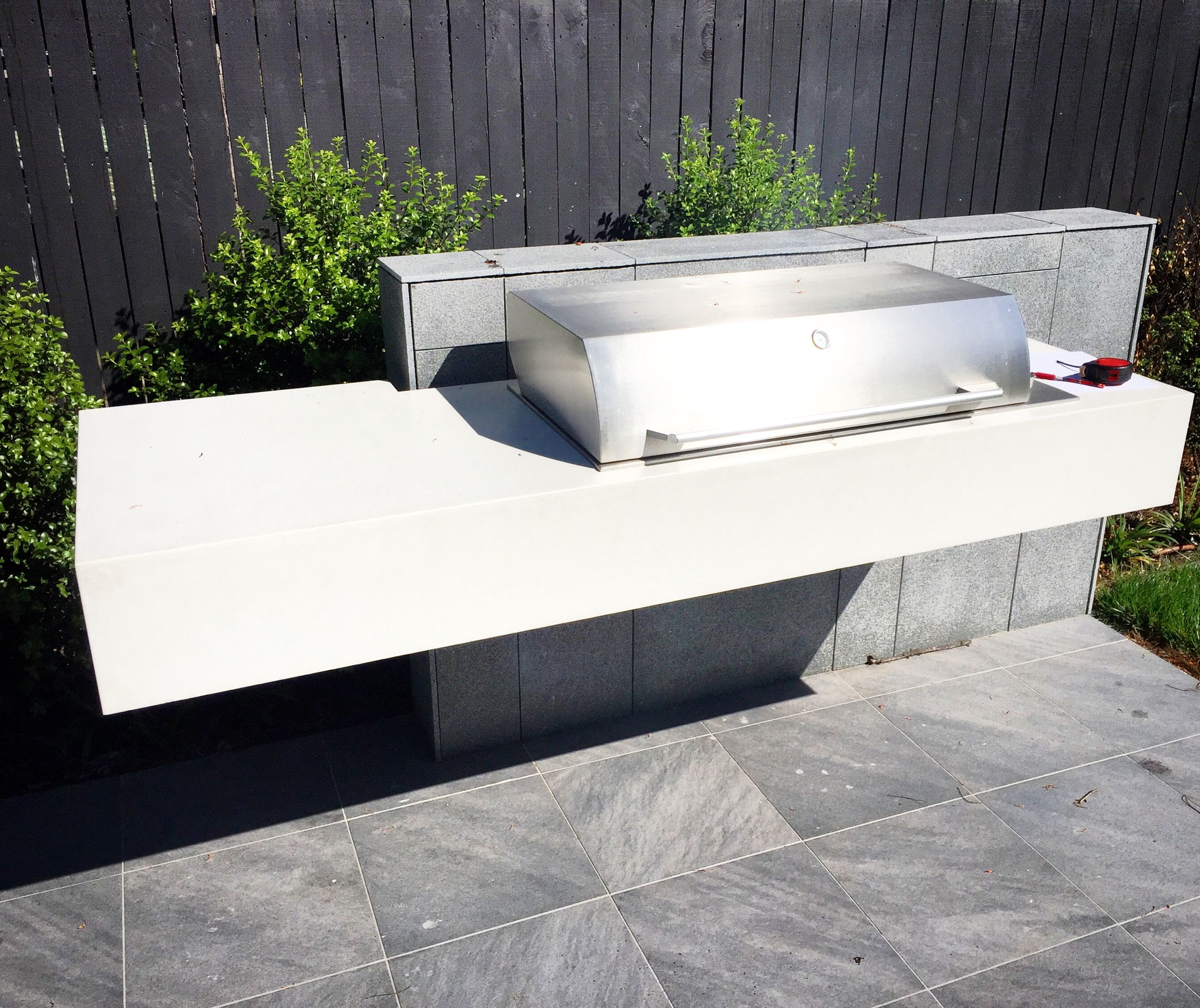 Polished Concrete Outdoor Kitchen Bbq Benchtop Mitchell