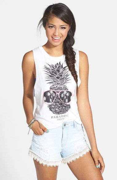 106f98faa5c3 PPLA Pineapple Graphic Muscle Tank (Juniors) available at  Nordstrom ...