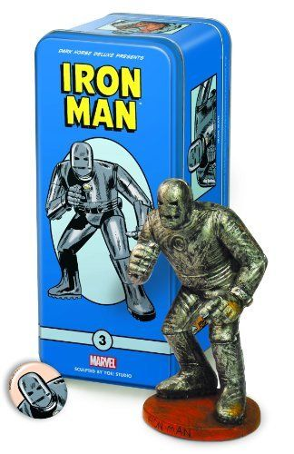 Dark Horse Deluxe Classic Marvel Characters Statue #3: Iron Man by Dark Horse Deluxe. $40.37. Includes a pin-back button and character booklet. Packaged in its own tin box. Limited to 1,500 numbered pieces. 5.5 inches tall. From the Manufacturer                5 1/2 tall, limited to 1,500 numbered pieces, packaged in its own tin box, with a pin-back button and character booklet. The 1960s brought a cultural upheaval in music and art, with a host of new icons entering the ...