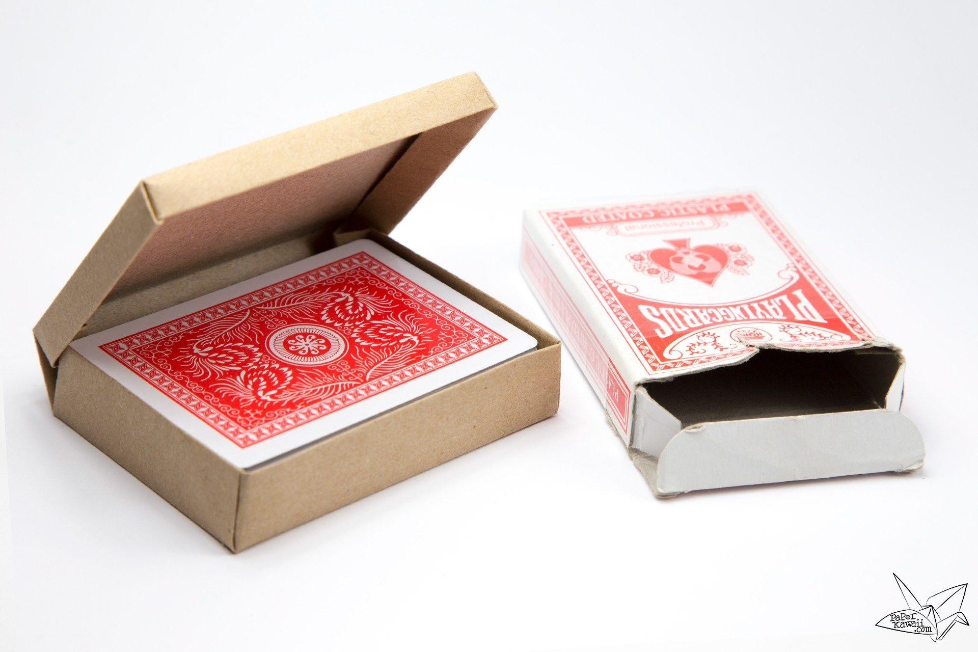 Custom Size Hinged Origami Box Playing Cards Box Paper Kawaii Playing Card Box Diy Card Box Origami Box