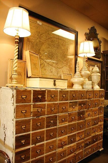 Vintage Library Card Catalogs Transformed Into Awesome Furniture - Vintage Library Card Catalogs Transformed Into Awesome Furniture