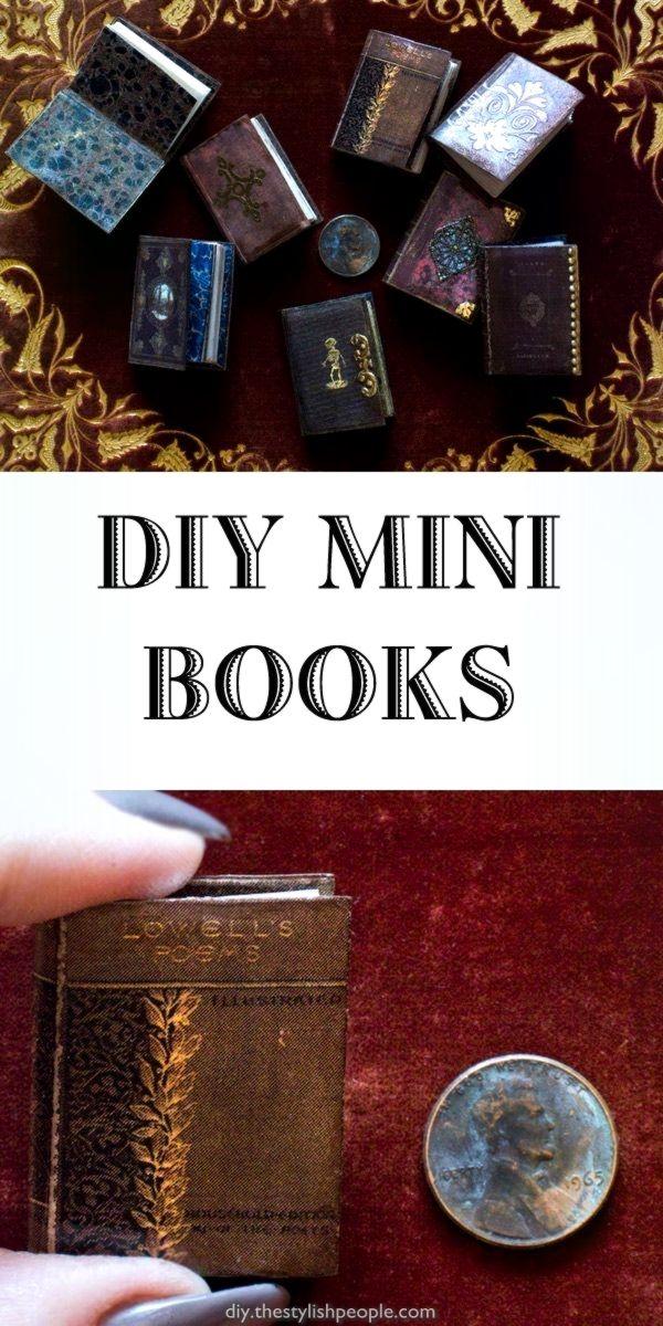 Elegant Miniature Books, And A Love Of  #books #miniature