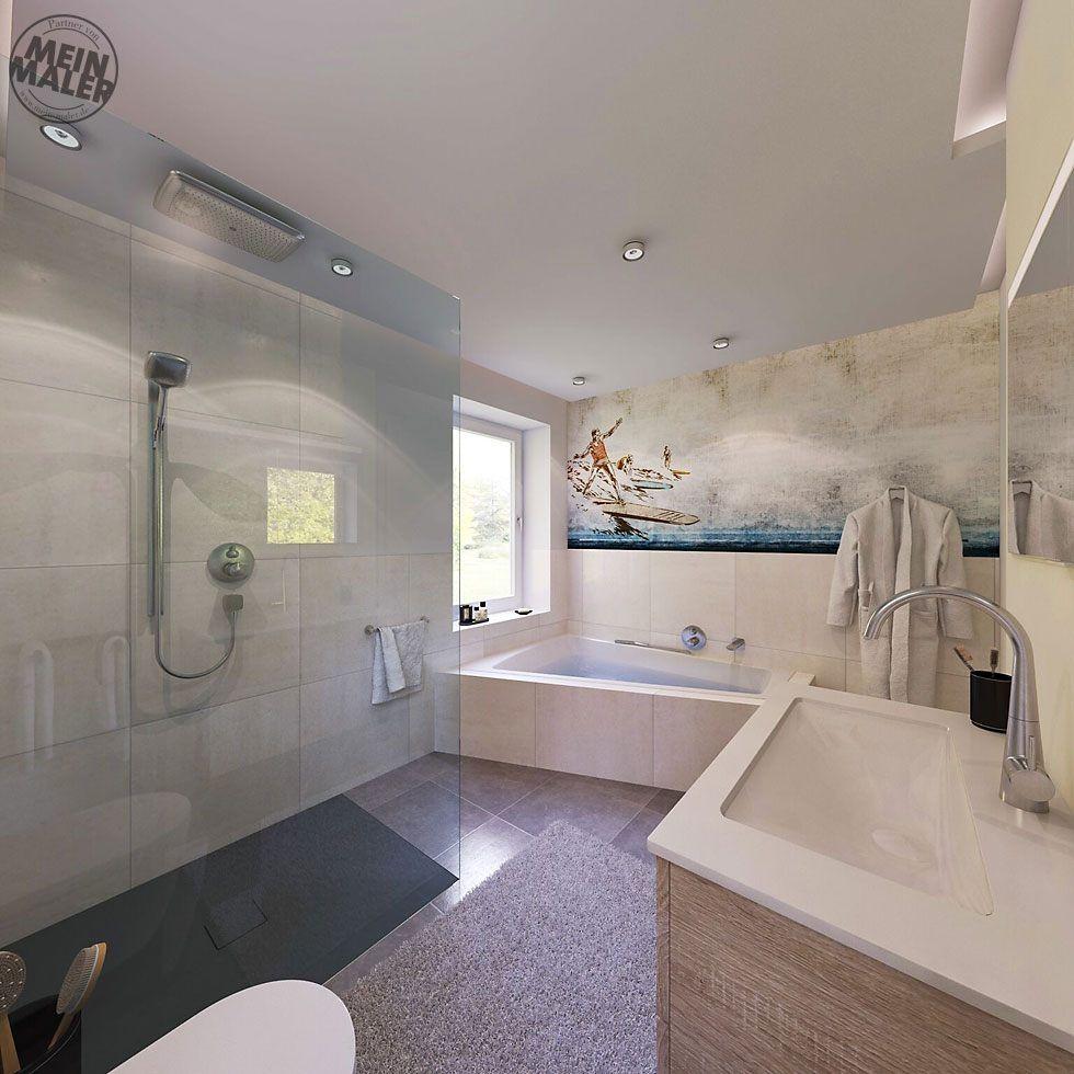 12 Tapete Im Badezimmer Wandtapeten Als Kreative Alternative Zu Eintagamsee Corner Bathtub Alcove Bathtub Bathtub