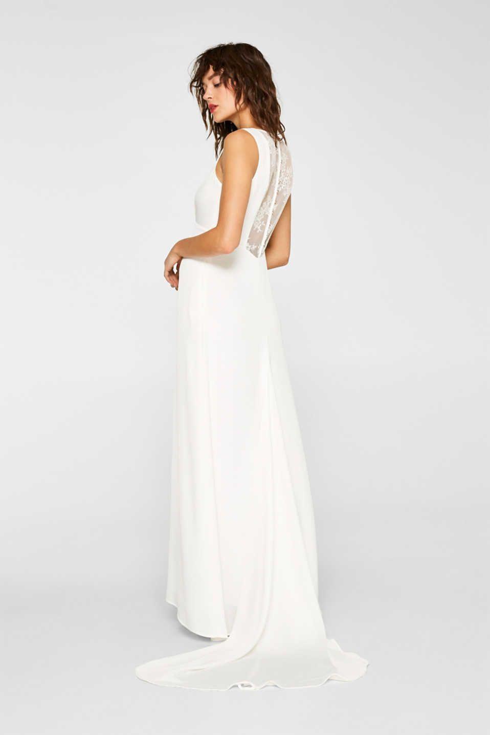 Esprit um 20€ - Brautkleid mit rückseitiger Spitze im Online Shop