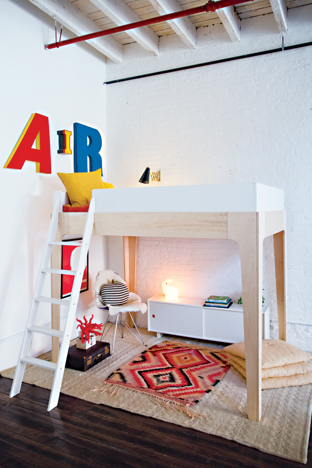 Oeuf Perch Full Loft Bed (With images) Kids loft beds
