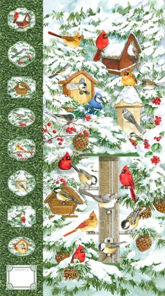 "Fabric Quilt Panel QUILTING TREASURES ~ FAVORITE SNOWMAN STOCKING ~ 24/"" x 45/"""