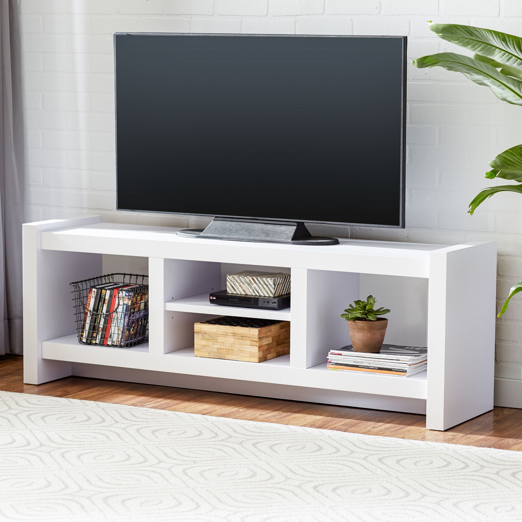 Dixon Media Console Cool Tv Stands White Tv Stands Tv Stand Designs