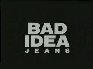Logo Bad Idea Jeans Saturday Night Live Happy Thoughts Logos Retail Logos
