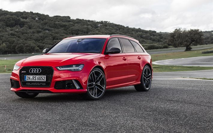 Download Wallpapers Audi Rs6 Avant Red Rs6 Wagon Tuning Audi