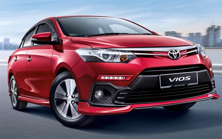 Download Wallpapers Toyota Vios 2018 Cars Subcompact Sedan New Vios Japanese Cars Red Vios Toyota Wohnung Hausdekor W Toyota Vios Toyota Upcoming Cars