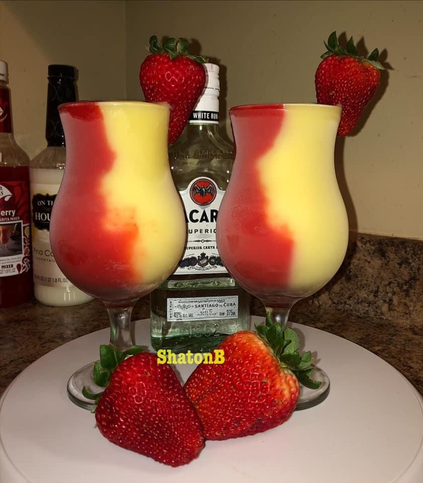 Strawberry pineapple Pina Colada Daiquiri aka Miam