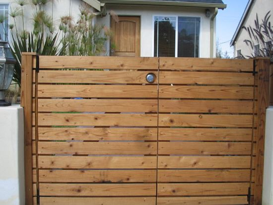 Replace Iron Gate With Wood Slat Gate Made From Pallets Use