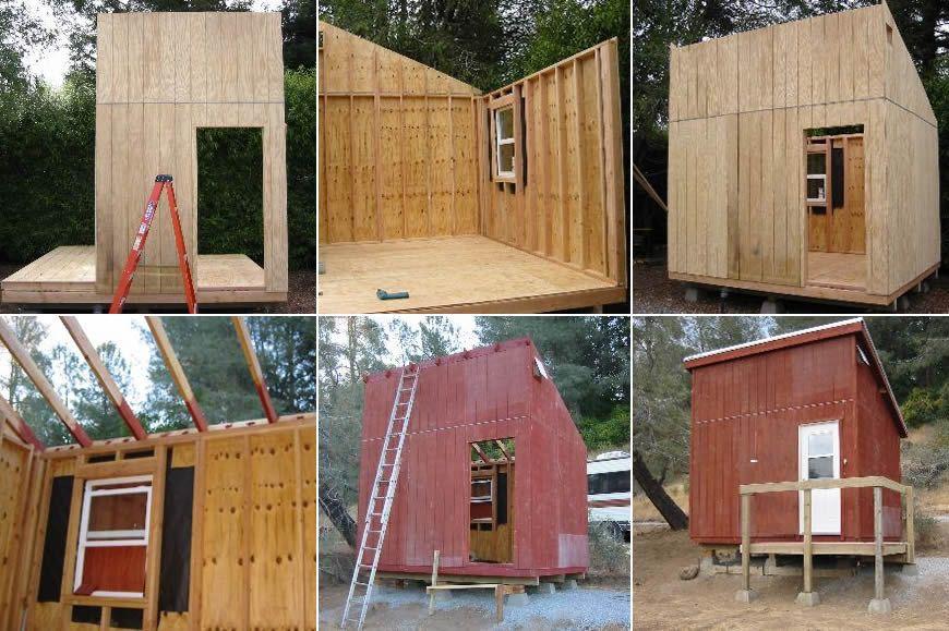 mini cabin plans Cabin ideas Pinterest Mini cabins Cabin and