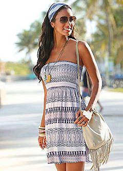 LASCANA Printed Short Bandeau Dress