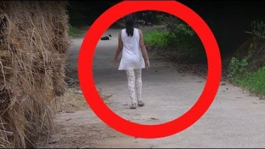 Real Ghost Caught Following Girl Real Ghost Haunting Caught On