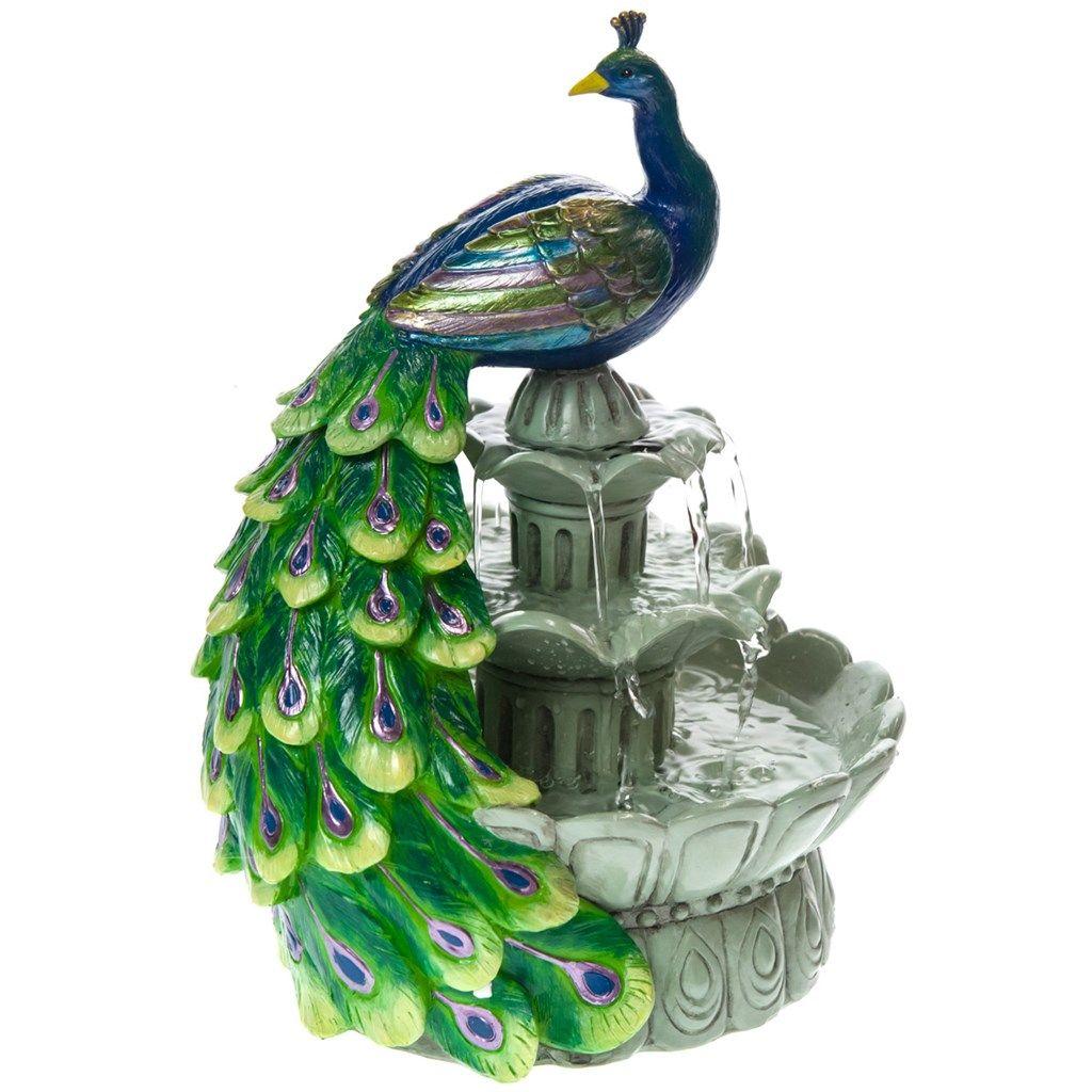 Peacock Fountain | Peacocks | Pinterest | Peacocks, Fountain and Barrels