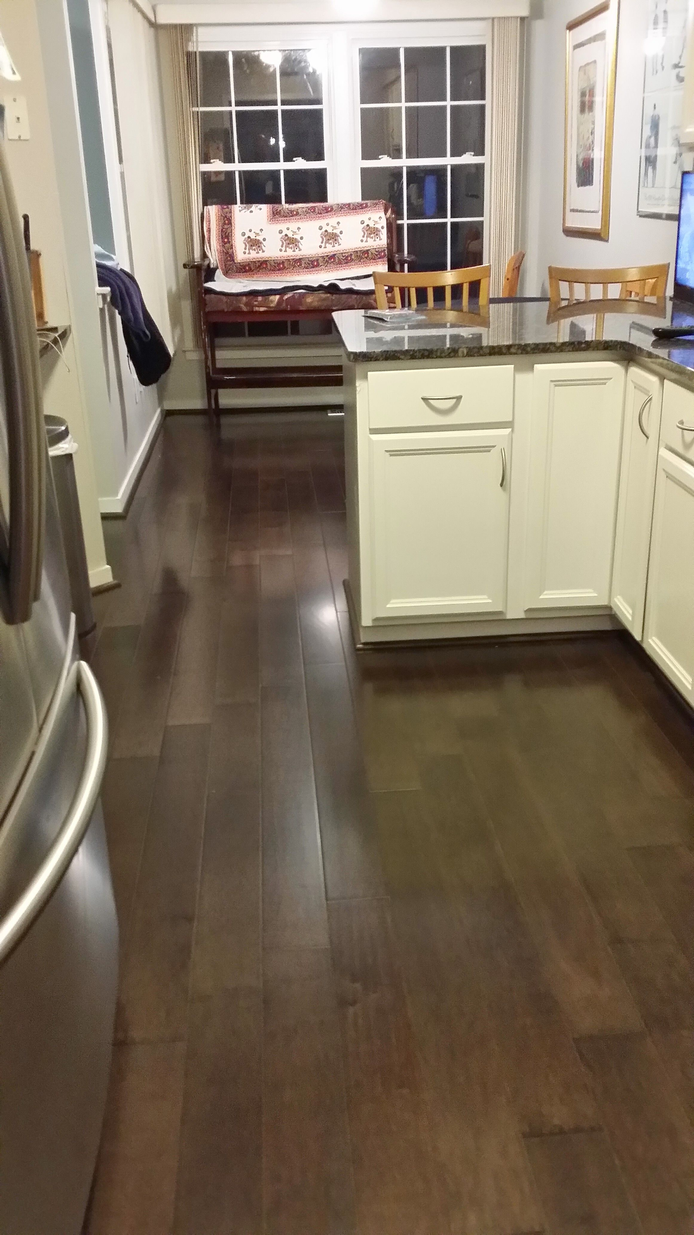 Maple Flooring | Home depot cabinets, Glass subway tile ...