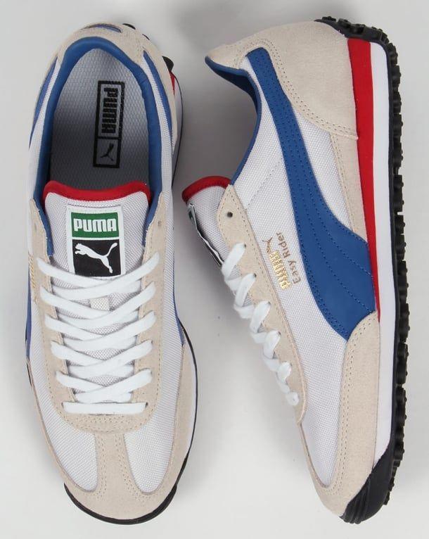 Puma Easy Rider Trainers White/True Blue | Mens puma shoes ...
