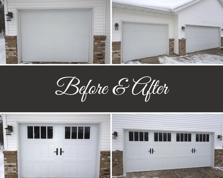 Garage Door Before After Garage Door Styles Garage Doors Garage Door Types