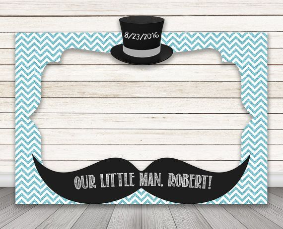 Printable Little Man Photo Booth Frame Baby Shower Photo Booth