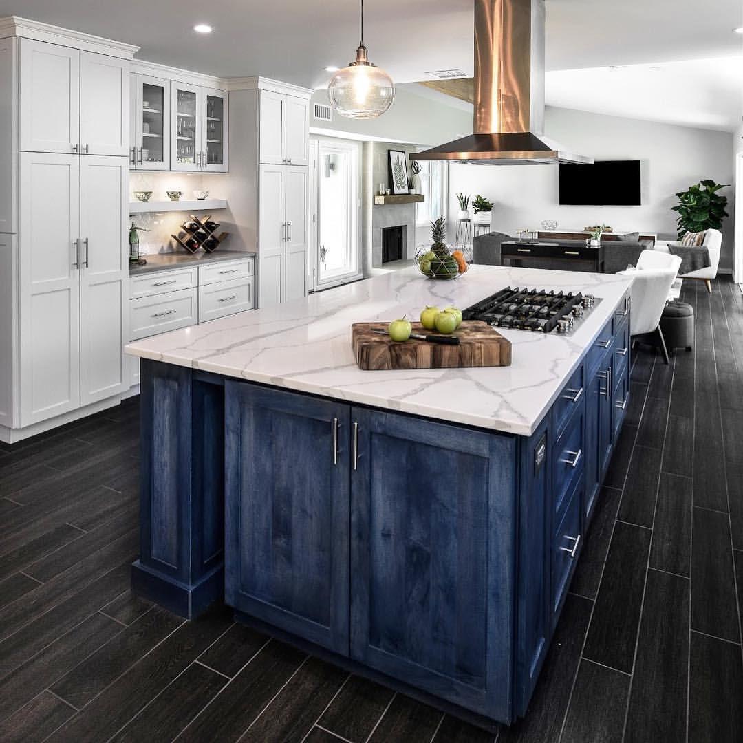 Moody blues 😎 la la la loving this kitchen designed by Zieba ...