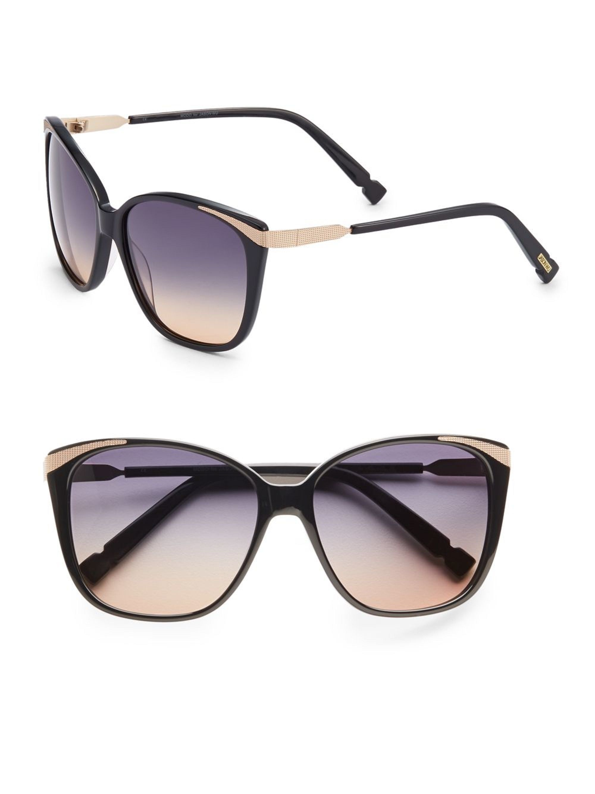 d63906d4b7f Free shipping and guaranteed authenticity on Nadya 57MM Cat's-Eye  Sunglasses at Tradesy. Oversized cat's-eye style with beaded metal detail.