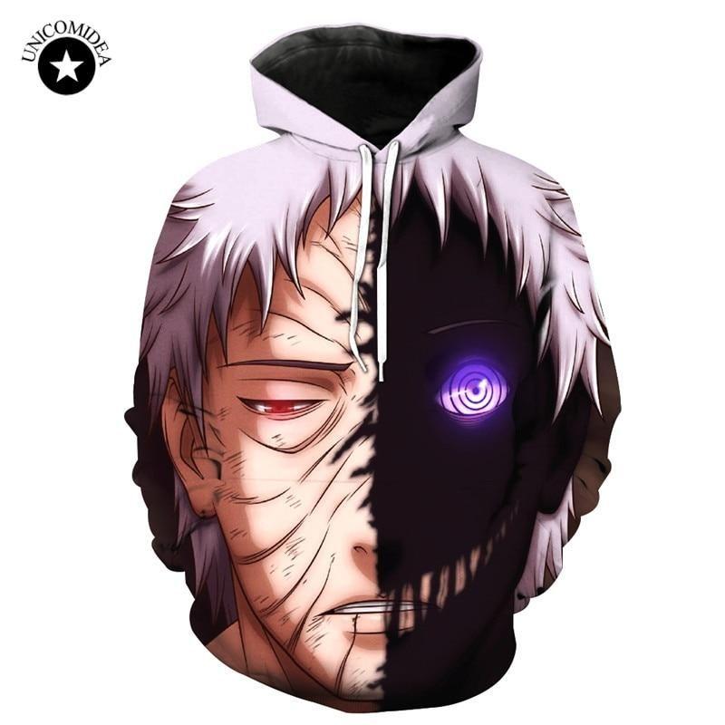Naruto 3d anime hoodie uchiha obito cartoon