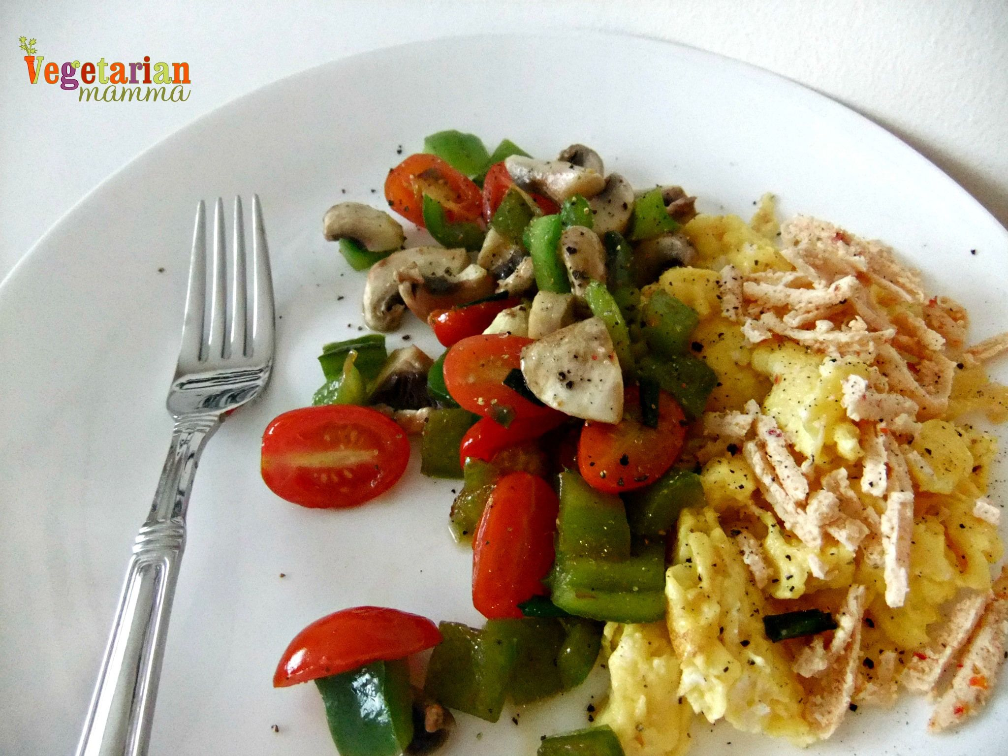 scrambled eggs with vegtables gluten free vegetarianmamma.com