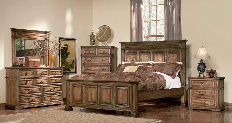 Coaster Edgewood Panel Bedroom Set Brown Oak (With