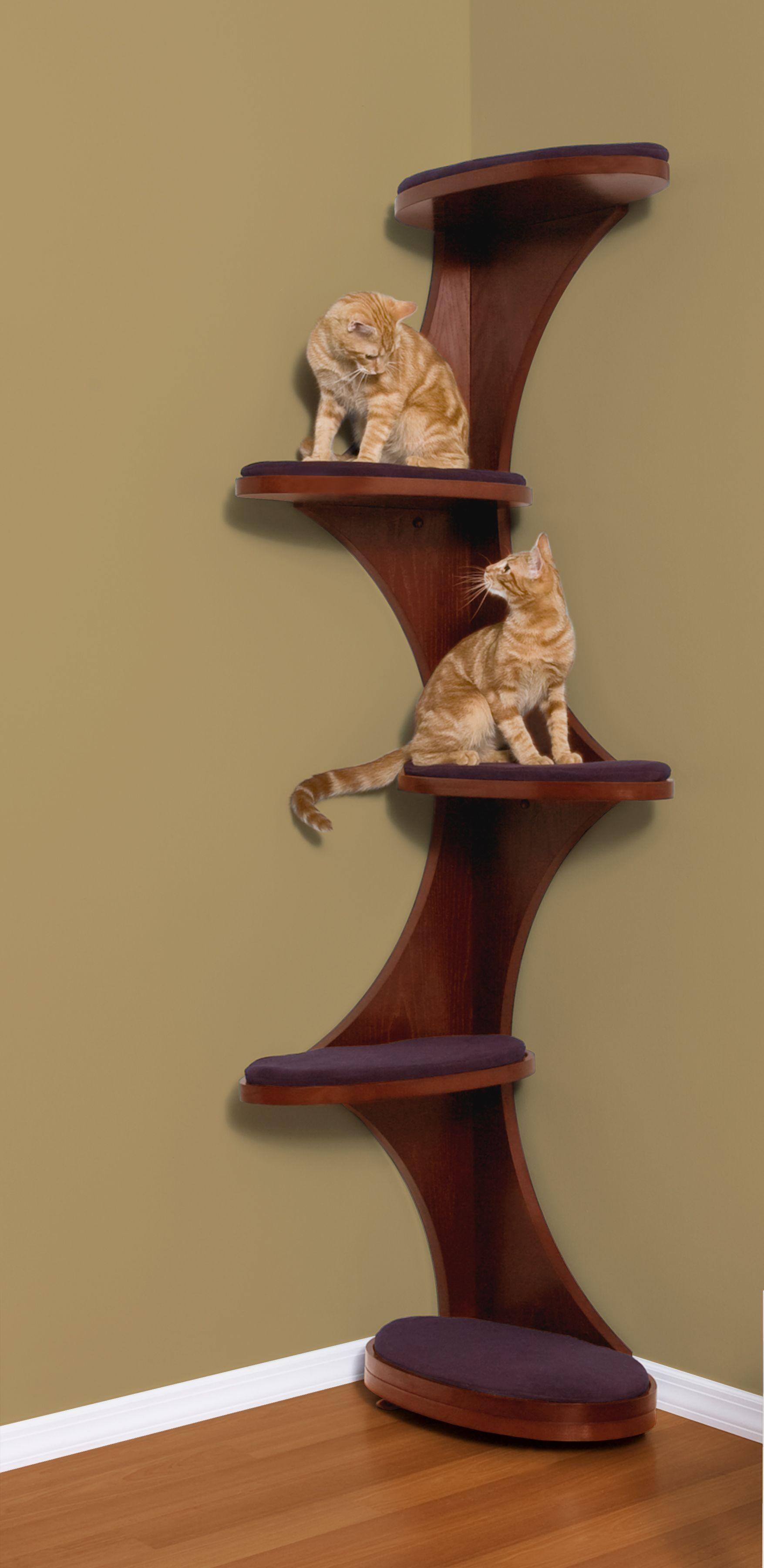 Cat corner cat tree a modern take on cat tower furniture want a cat unique more at catsincare com
