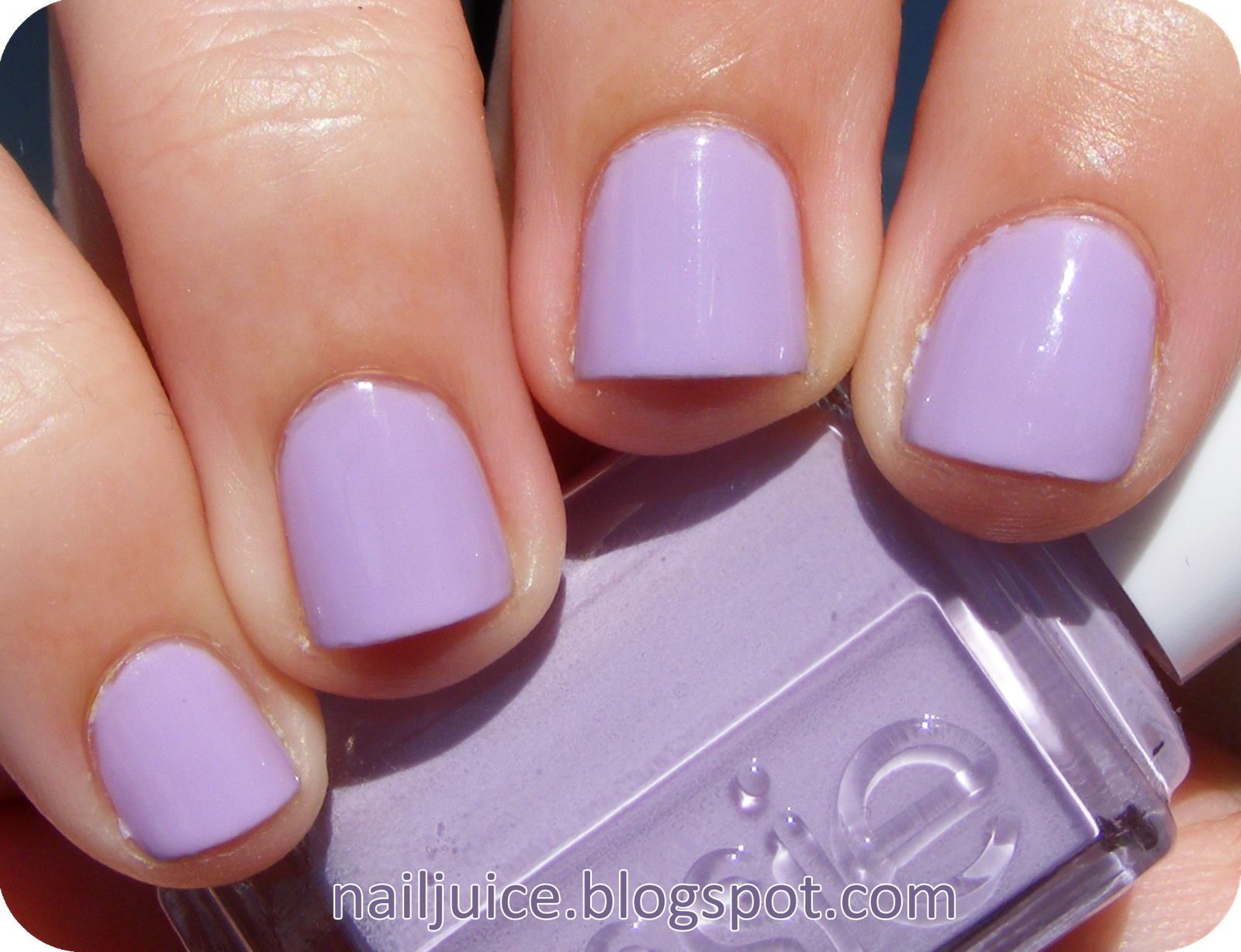 Essie nice is nice. fave purple polish. light purple with a touch ...