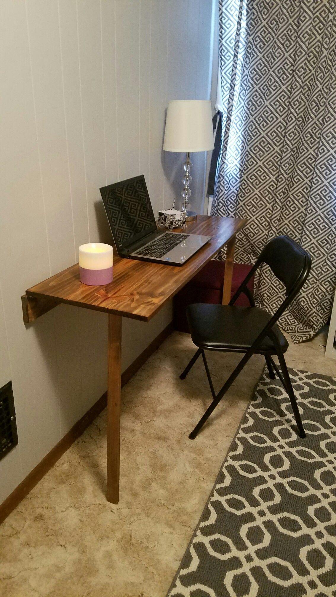 Fold down desk for small space woodworkingforkids desks
